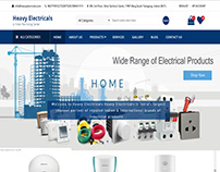 Heavy electricals E-commerce website