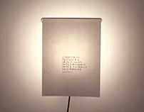 Laboratório poético, lamp