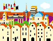 Berlin Cityscape - Geometric GIF Illustrations