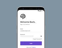 School Of AI App Design (1st iteration)