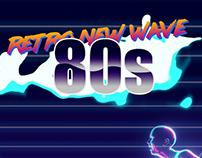 Retro New Wave art style