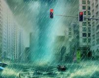 Abu Dhabi Raining