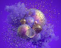 Colored Haze Balls