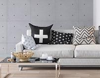 Modern bright Scandinavian style interiors