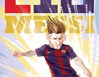 L10 Messi vector illustration poster