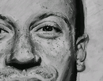 Macklemore - Charcoal on mixed-media paper