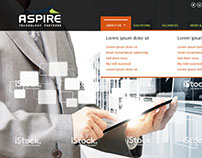 Aspire website design