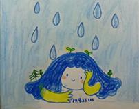 One girl and rain......