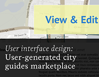 User-generated city guides marketplace