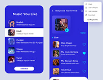 UI/UX for Music player IOS App , Interaction Design