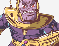 Thanos Character Fan Art