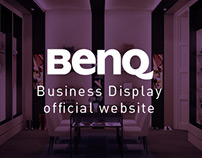 BenQ Business Display Official Website Layout Design