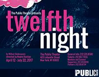 Twelfth Night Poster - Screenprinting