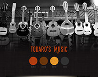 Todaro's Music - UI Mockup Design
