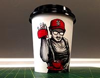 COFFEE CUP DRAWING - MILK BAE