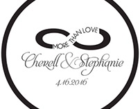 Graphic Design/Event Branding: Cherell & Stephanie 2016