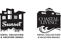 Logos for Sunset and Coastal Living magazines