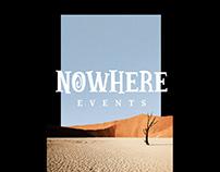 Nowhere Events identity