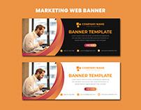 Marketing Web Banner Template Design