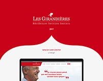 Les Girandières website design