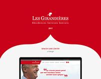Les Girandières website design