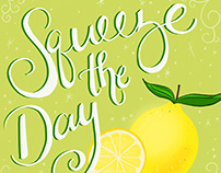 Squeeze the Day Lemon Illustration