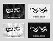 Invitation Design: Black & White 21st