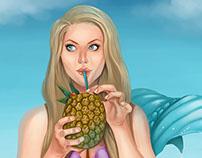 Pineapple Drink Mermaid