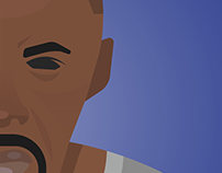 Stringer Bell (The Wire) - Vector Portrait