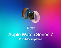 Apple Watch Series 7 PSD Mockup