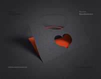 paper bag with heart - valentine's day sale . 3D
