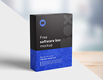 Free software box mockup