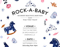 Poster and Brand Identity for the Rock-a-Baby baby fair
