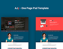 Free: AJy – One Page Psd Template