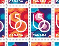 150e ANNIVERSAIRE DU CANADA // TIMBRES // 2017