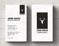 Freebie - Clean Vertical Business Card PSD Template