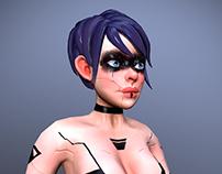 Cyberpunk android girl
