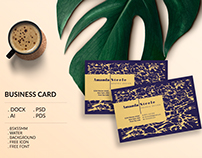 Water business card template / creative / card design /