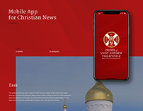 Religious news mobile app redesign