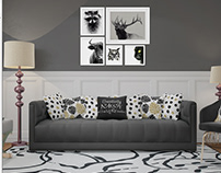 Pillows, Carpet & Frames Interior Mockup Pack