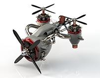 Jet Propeller Bike Plane