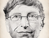 Bill Gates: Digital Drawing