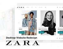UI / UX Redesign Concept: ZARA's Desktop Website