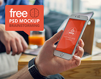 FREE PSD Mockup iPhone 6 Brainstorming