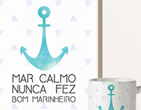 Mugs and posters design for Almô Store