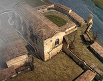[3D] Abbaye St Michel de Gaillac (France) in 3D