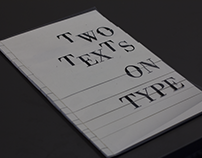 Two Texts on Type
