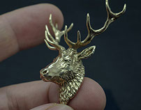 Deer head pendant. Jewelry