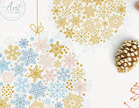 Vector Sparkling snowflakes collection