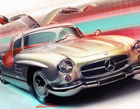 Mercedes 300sl artwork